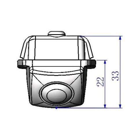 Автомобильная камера заднего вида для Toyota Camry 2009 Превью 4