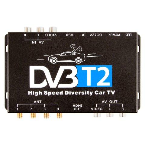 Автомобильный цифровой тюнер DVB-T2 с 4 антеннами Превью 1