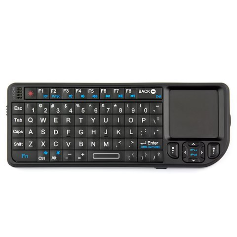 Wireless Ultra Mini Keyboard with Touchpad (Black) Preview 3