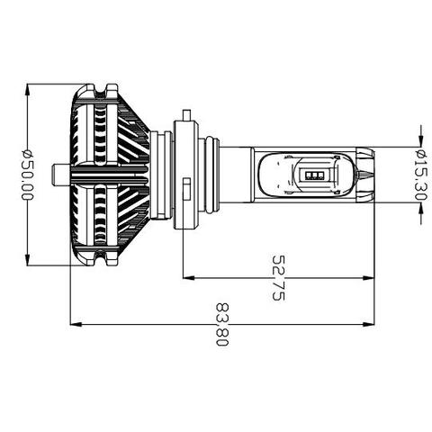 Juego de luces LED principales para coche UP-X3HL-9005W(HB3) (6000 lm) Vista previa  1
