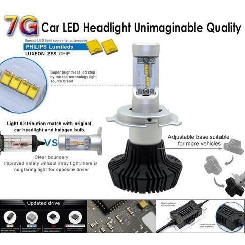 Набір світлодіодного головного світла UP-7HL-PSX24W-4000Lm (PSX24, 4000 лм, холодний білий) Прев'ю 2