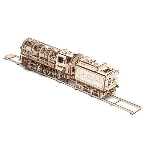 Механический 3D-пазл UGEARS Набор 2 в 1: Локомотив + Рельсы - /*Photo|product*/