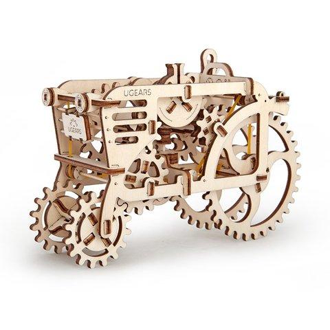 Механический 3D-пазл UGEARS Набор 2 в 1: Трактор + Прицеп