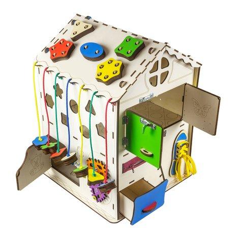 Бизиборд GoodPlay Большой развивающий домик с подсветкой (35×35×50) Превью 5